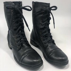 Steve Madden | Troopa | Leather Combat Boots | 5
